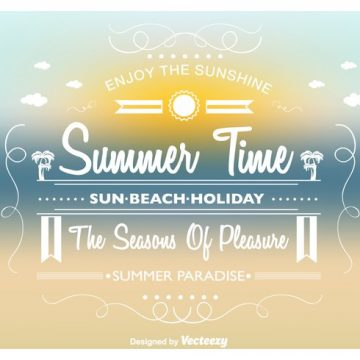 Free vector Summer Time Vector Background #20820