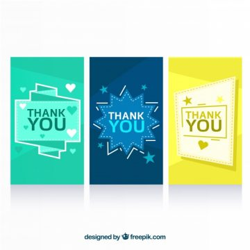 Free vector Thank you card pack #22857