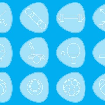 Free vector Thin Sports Vector Icons #23146