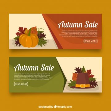 Free vector Two offers banners for autumn, elegant style #21604