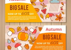 Free vector Two sales banners for autumn #21606
