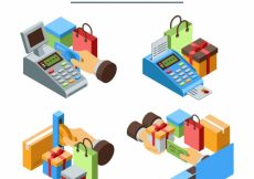 Free vector Variety of payment methods with isometric style #22955