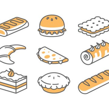 Free vector Bakery / Cake Icons #21439