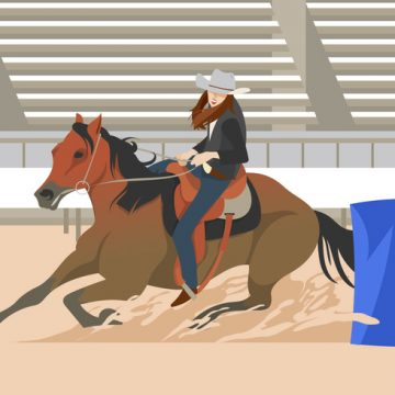 Free vector Barrel Racing Event #23218