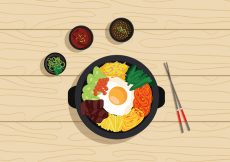 Free vector Vector Bibimbap Korean Food #19283