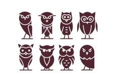 Free vector Vector Buho Icons #21367