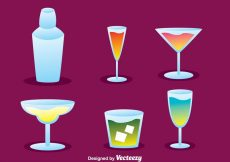 Free vector Vector Cocktail Icons #20446