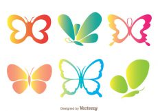 Free vector Color Butterflies Icons #22362