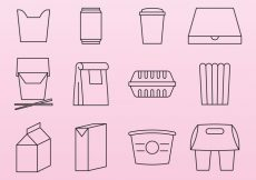 Free vector Food Pack Icons #19325
