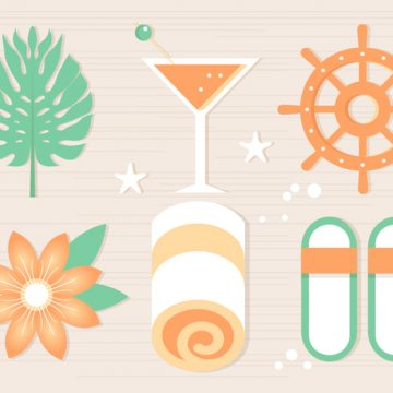 Free vector Free Summer Beach Elements Background #20648