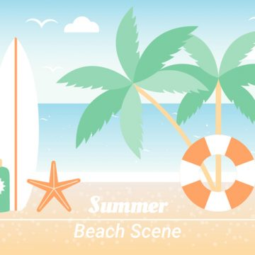Free vector Free Summer Beach Elements Background #20650