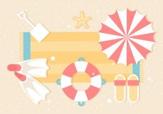 Free vector Free Summer Traveling Template Background #20598