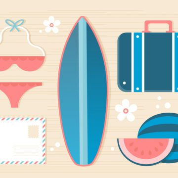 Free vector Free Summer Traveling Template Background #20606