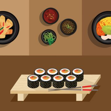 Free vector Vector Gimbap Korean Food #19367