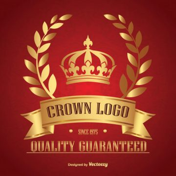 Free vector Golden Crown Logo #22462