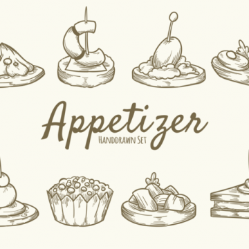 Free vector Hand Drawn Food Appetizer #20312