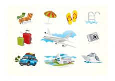 Free vector Holiday Travel Elements #20562