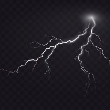 Free vector Vector illustration of a realistic style of bright glowing lightning isolated on a dark, natural light effect. #23123