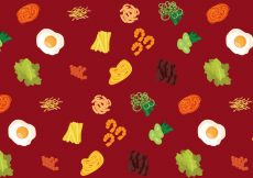 Free vector Vector Korean Food Pattern #19329
