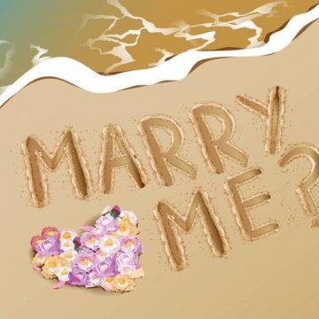 Free vector Marry Me Proposal Idea At Beach #21012