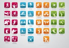 Free vector Olympic Sports Icons #23176