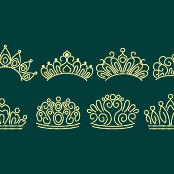 Free vector Pageant Crown Icons #22442