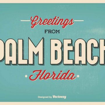Free vector Palm Beach Florida Greeting Illustration #21054
