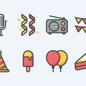 Free vector Party Icon Set #23249