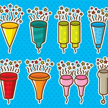 Free vector Party Popper Icons #23224