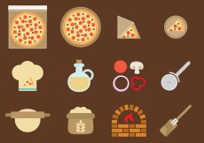 Free vector Vector Pizza Icons #19434
