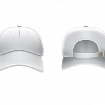 Free vector Vector realistic illustration of a white textile baseball cap front and back #23131