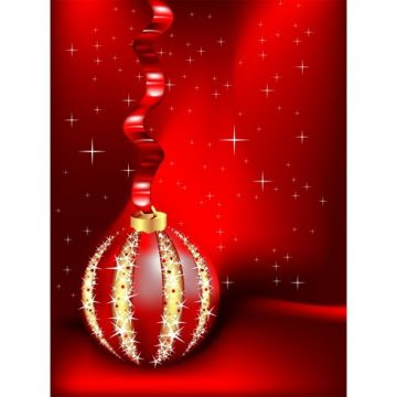 Free vector Red Christmas Ornament Background #20952