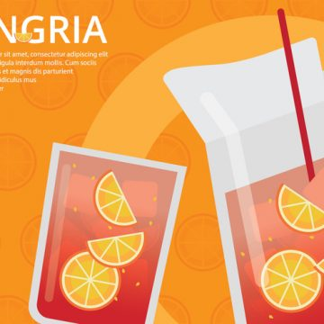 Free vector Sangria Event Poster Template #23214