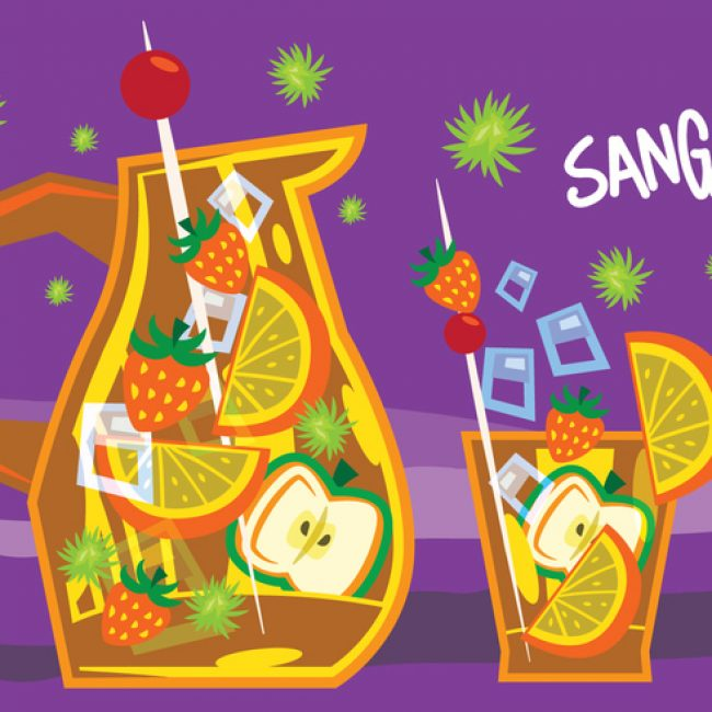 Free vector Sangria Retro Illustration #22888
