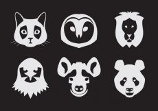 Free vector Vector Set of Animal Portraits #22100