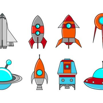Free vector Set Of Starship Icons #21407