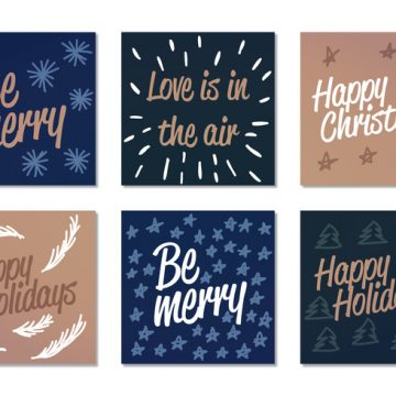 Free vector Vector Winter Holiday Cards #22516