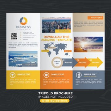 Free vector Vibrant colorful travel business trifold brochure template #21162