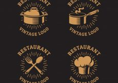 Free vector Vintage restaurant logos with classic style #19194