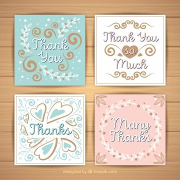 Free vector Vintage thank you card set #22847