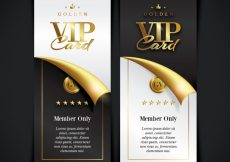 Free vector Vip member card collection #19224