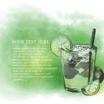 Free vector Watercolor Caipirinha Vector #22996