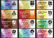 Free vector Watercolor Degrade Business Cards #19698