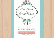 Free vector Wedding invitation withvintage ornaments #21400