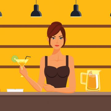 Free vector Woman Mocktail Bar Free Vector #22970