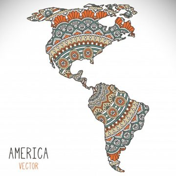 Free vector World map illustration in mandala style #19908