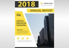 Free vector Yellow corporate annual report design #21364