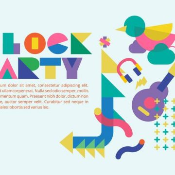 Free vector 80s Style Block Party Background Vector #23339