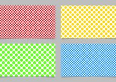Free vector Abstract dot pattern business card background template design set – vector id card illustration with colored circles #24206