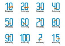 Free vector Anniversary Vector Number #23695